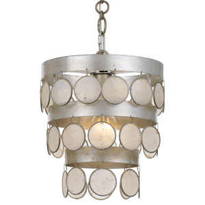 Coco Antique Silver One-Light Mini Chandelier
