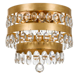 Perla Antique Gold Four-Light Flush Mount