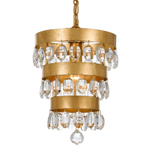 Perla Antique Gold One-Light Mini Chandelier