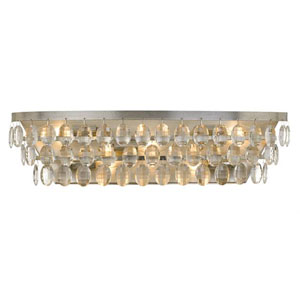 Perla Five-Light Antique Silver Bath Light