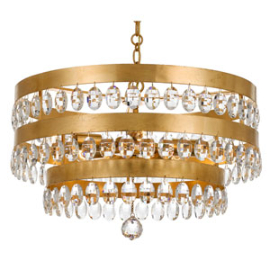 Perla Antique Gold Five-Light Chandelier