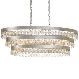 Perla Six-Light Antique Silver Chandelier