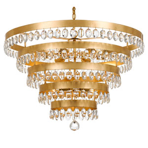 Perla Antique Gold Nine-Light Chandelier