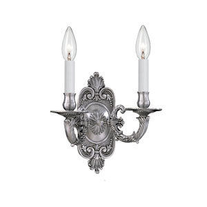 Arlington Pewter Two-Light Wall Sconce