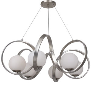 Arlo Antique Silver Six Light Chandelier