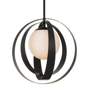 Arlo One-Light Matte Black Chandelier