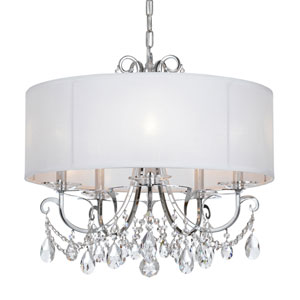 Othello Polished Chrome Five Light Chandelier with Clear Swarovski Strass Crystal