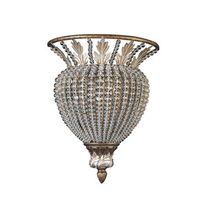 Crystal Beads Flush Wall Sconce