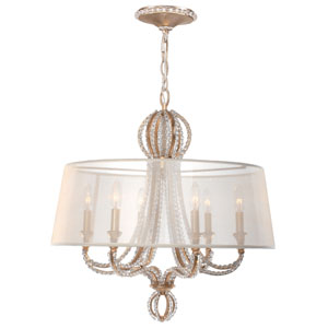 Garland Distressed Twilight 25-Inch Six Light Chandelier