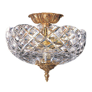 Richmond Olde Brass Two-Light Semi-Flush Mount