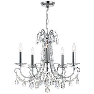 Othello 20-Inch Polished Chrome Five-Light Chandelier