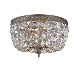 English Bronze 10-Inch Two-Light Flush Mount