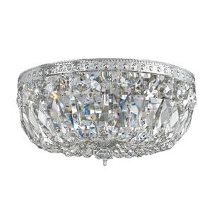 Richmond Polished Chrome Three-Light Crystal Basket Flush Mount with Swarovski Spectra Crystal