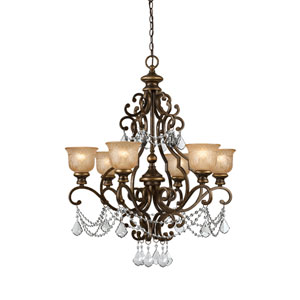 Norwalk Bronze Umber Six-Light Chandeliers