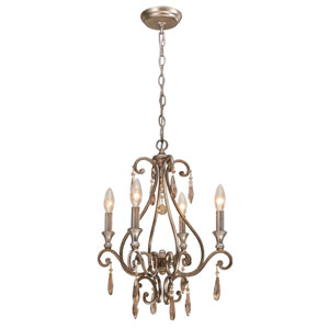 Shelby Distressed Twilight Four-Light Mini Chandelier