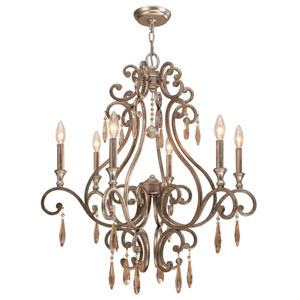 Shelby Distressed Twilight Six-Light Chandelier