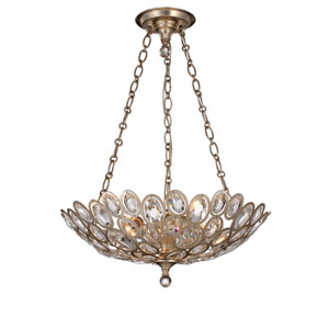 Sterling Distressed Twilight Three-Light Pendant