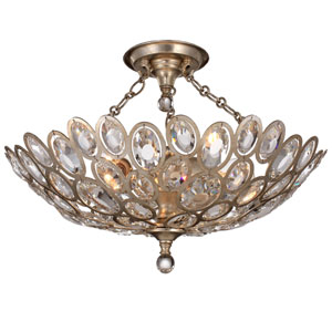 Sterling Distressed Twilight Three-Light Ceiling Mount