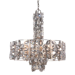 Sterling Distressed Twilight 24-Inch Eight-Light Pendant