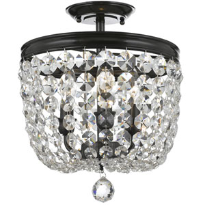 Archer Vibrant Bronze Three Light Flush Mount with Clear Spectra Crystal