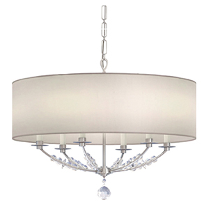 Mirage Polished Nickel Six Light Drum Pendant