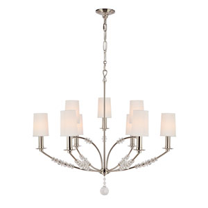 Mirage Polished Nickel Nine Light Chandelier
