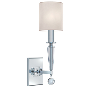 Paxton Polished Nickel One Light Wall Sconce