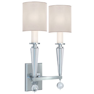 Paxton Polished Nickel Two Light Wall Sconce