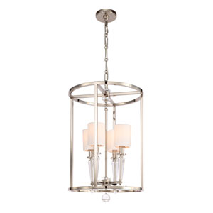 Paxton Polished Nickel Four Light Pendant