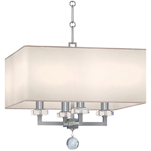 Paxton Polished Nickel Four Light Mini Chandelier
