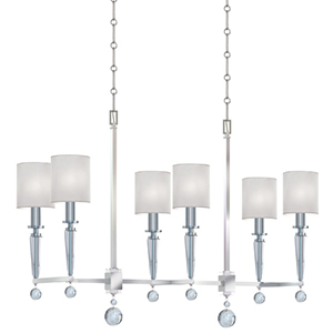 Paxton Polished Nickel Six Light Chandelier