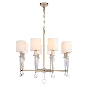 Paxton Polished Nickel Eight Light Chandelier