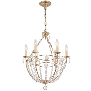 Waverly Distressed Twilight Six-Light Chandelier