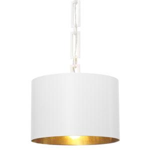Alston Matte White and Antique Gold One Light Pendant