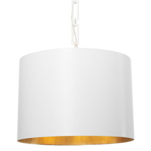 Alston Matte White and Antique Gold Six Light Pendant
