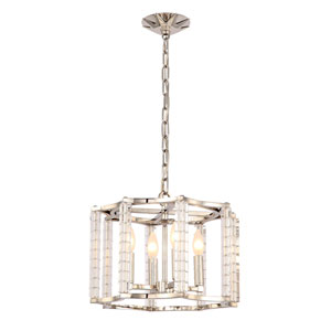 Carson Polished Nickel Four-Light Mini Chandelier