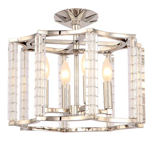 Carson Polished Nickel Four-Light Ceiling Mount