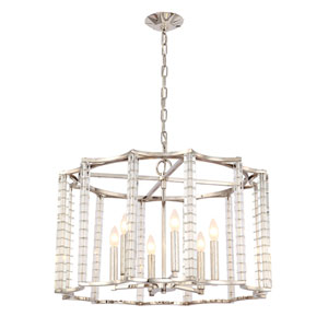 Carson Polished Nickel Six-Light Chandelier