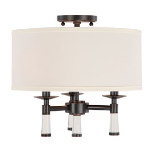 Baxter Oil Rubbed Bronze Three-Light Ceiling Mount