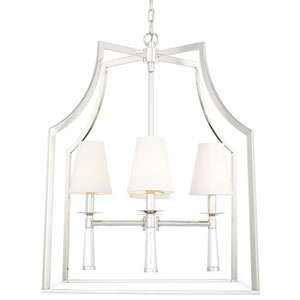 Baxter Polished Nickel Four Light Chandelier