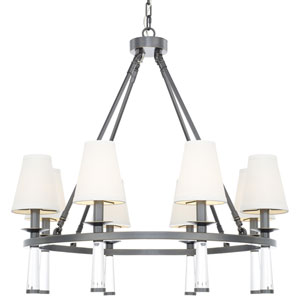 Baxter Oil Rubbed Bronze Eight Light Chandelier