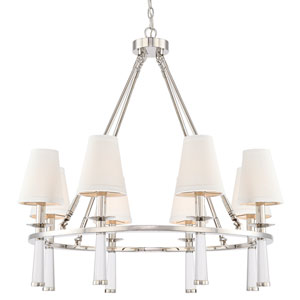 Baxter Polished Nickel Eight Light Chandelier