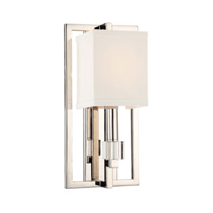 Dixon Polished Nickel One-Light Sconce