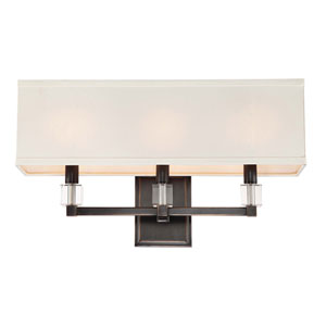 Dixon Oil Rubbed Bronze Three-Light Sconce