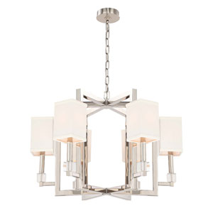 Dixon Polished Nickel Six-Light Chandelier