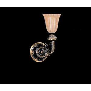 Natural Alabaster Bronze One-Light Wall Sconce