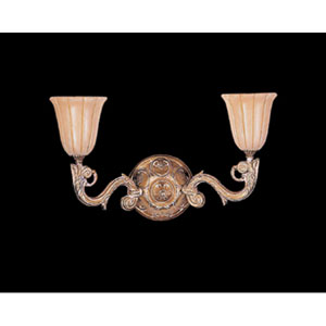 Natural Alabaster French White Two-Light Wall Sconce