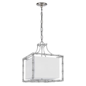Masefield Antique Silver 19-Inch Wide Four-Light Pendant by Libby Langdon