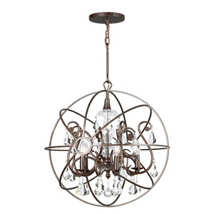 Solaris Five-Light English Bronze Chandelier