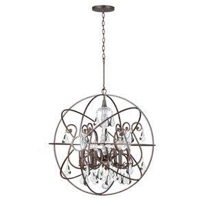 Solaris Six-Light English Bronze Chandelier
